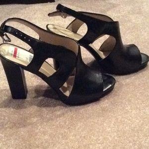 Nine west Black leather heels, 9.5 m, nwt